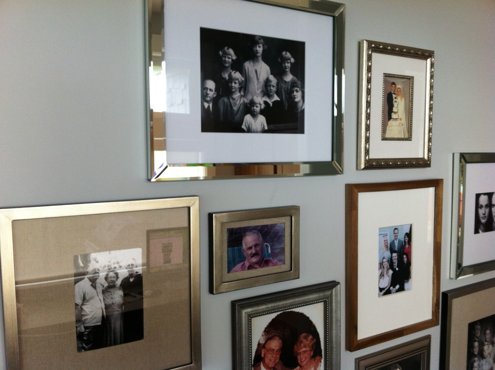 Mountain Modern Style Home 2012: Great Grandma Angie Family Picture Wall