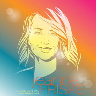 Jeanna Friske by Kai Karenin, vector illustration