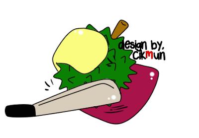 doodle,durian. cara belah durian, musang king, cara mudah belah durian,