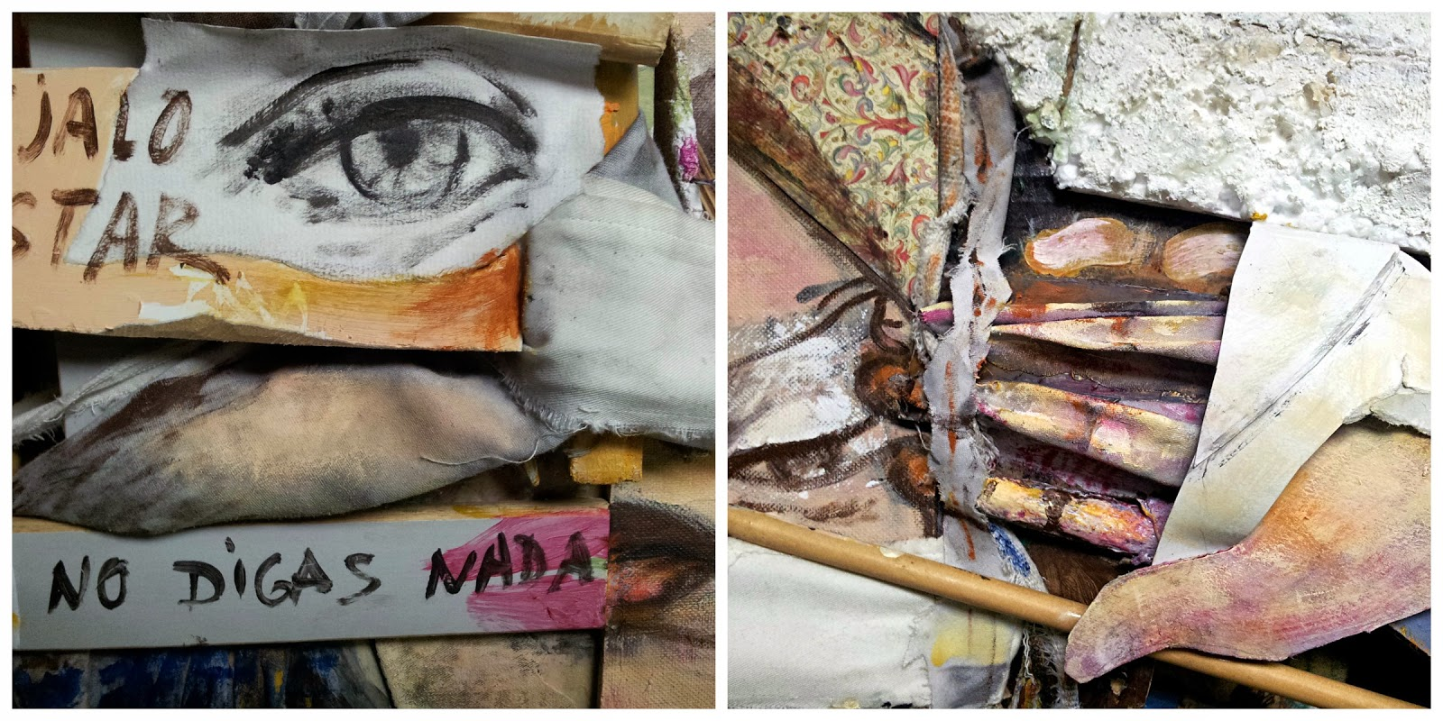 Imágenes dell cuadro Déjalo estar, obra de Juan Sánchez Sotelo de Artistas6 academia de dibujo y pintura de Madrid clases para aprender a dibujar y pintar. Venta de arte contemporáneo abstracto y figurativo.