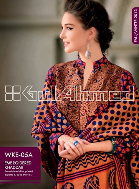 Gul Ahmed Embrioded Khaddar Collection 2013