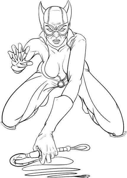 Catwoman Coloring Pages to Print