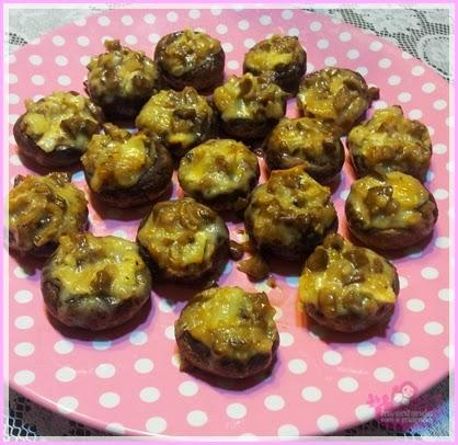 Cogumelos Recheados com Queijo Brie