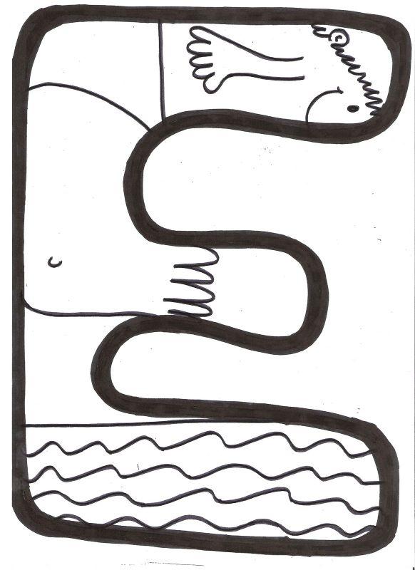 BAÚL DE COLOREAR: Letras para mural: VERANO