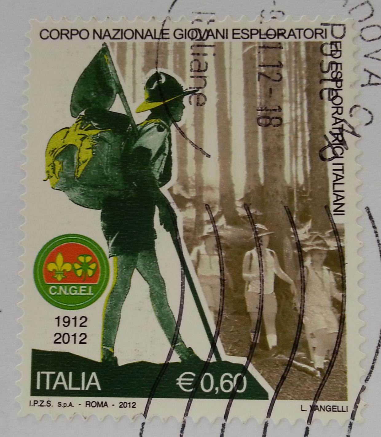 francobollo Corpo Nazionale Giovani Esploratori ed Esploratrici Italiani