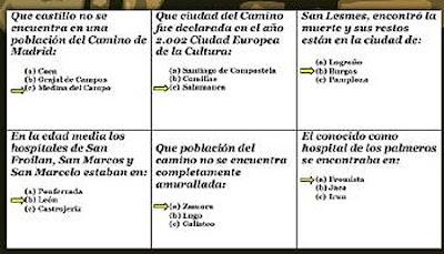 Alguna de las preguntas del trivial del Camino de Santiago.