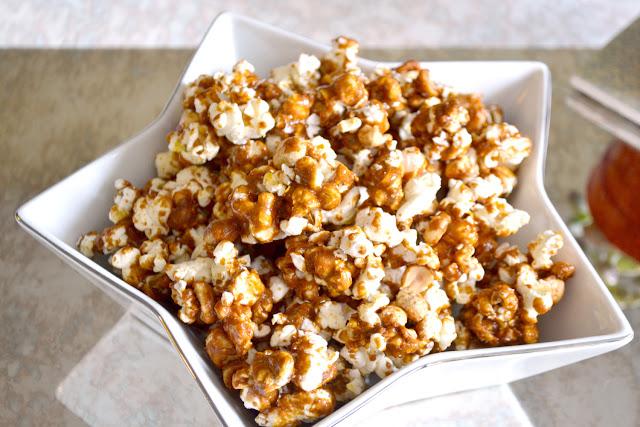 caramel peanut popcorn recipe