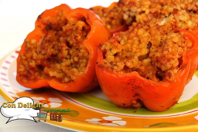 פלפל ממולא בעוף טחון Peppers stuffed with minced chicken
