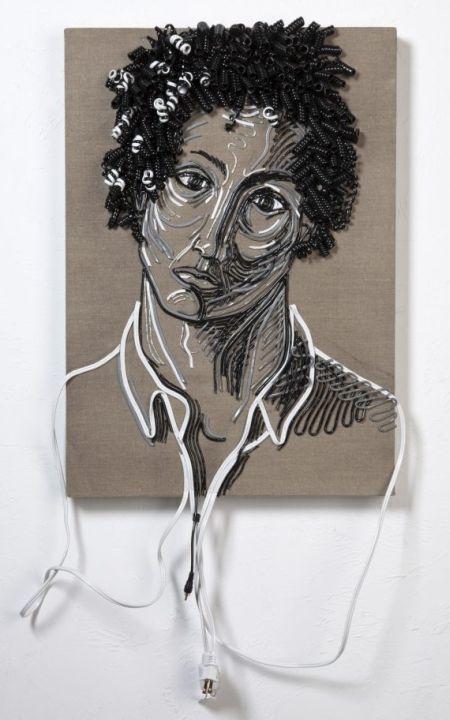 federico uribe arte com cabos e fios eletrodomésticos eletrônicos Retrato