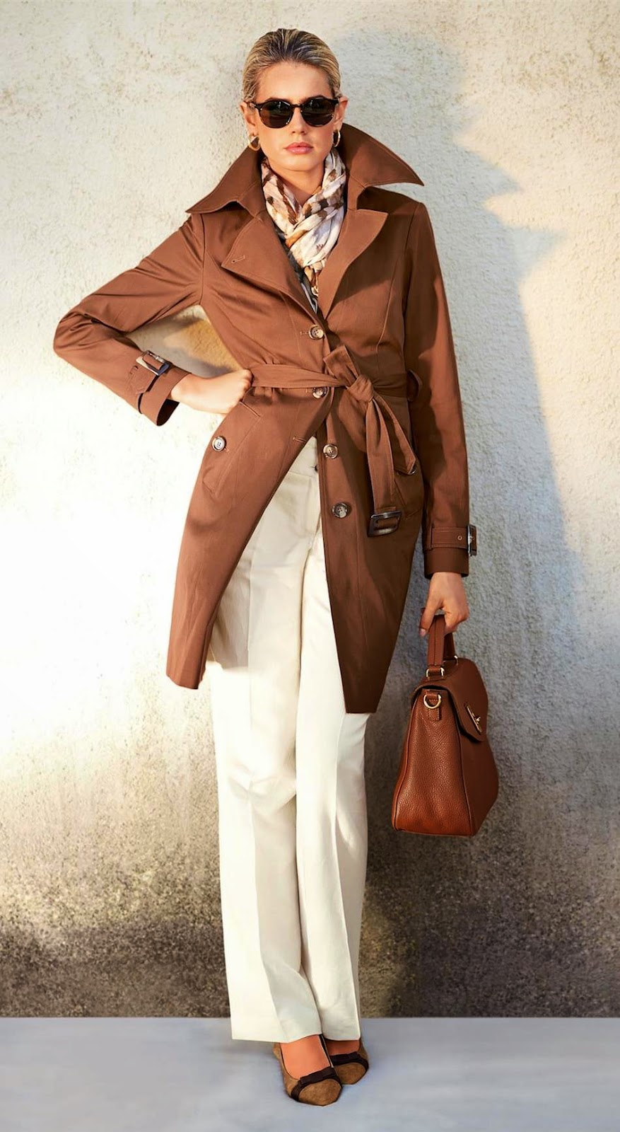 Madeleine Trench Coat in Cognac