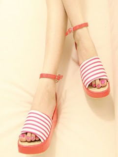 stripes shoes