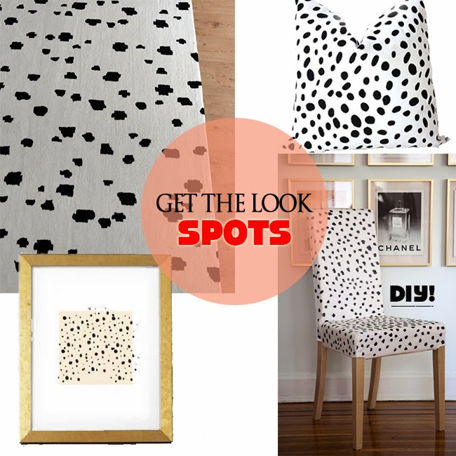 black spot rugs, pillows, prints, and chairs for your home