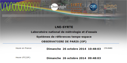 capture d'écran du site LNE-SYRTE