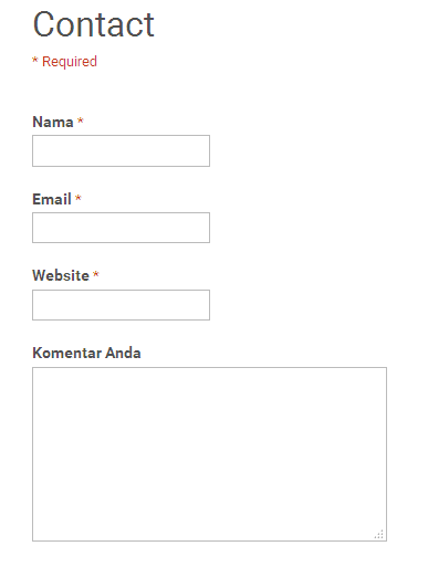 cara membuat contact form