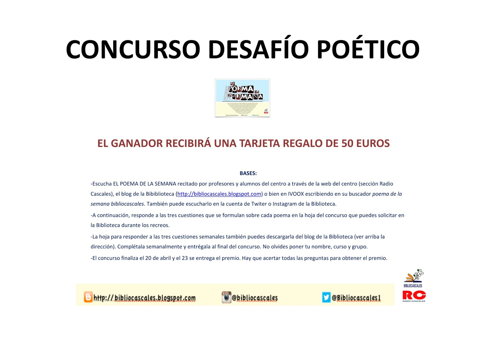 """PODSCATS """"DESAFÍO POÉTICO"""""""