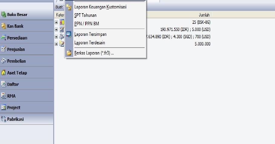 accurate accounting software cara menampilkan laporan