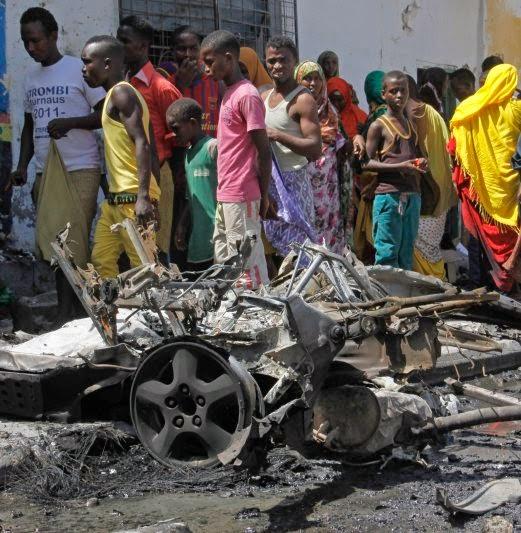 Letupan Bom Kereta Di Mogadishu 3 Maut