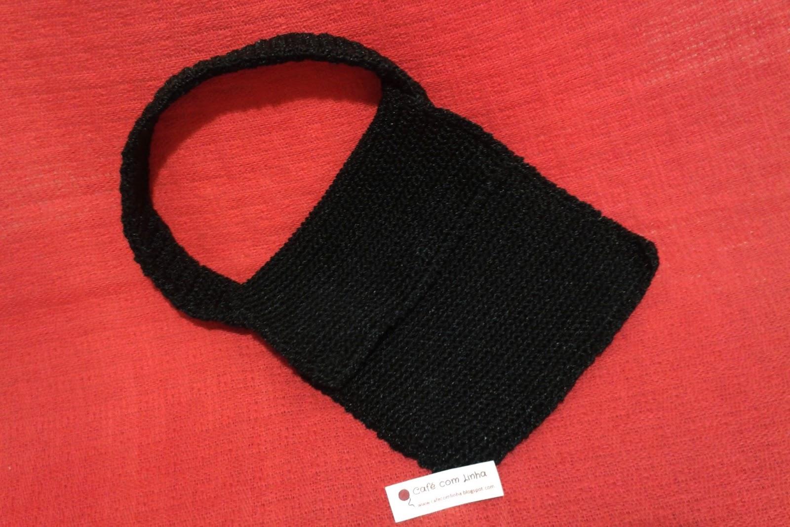 Bolsa De Mão Feita De Croche : Caf? com linha croch? tric? arte bolsa de m?o em