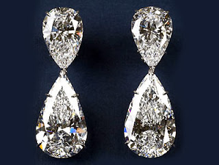 Diamond Drop Earrings by House Of Harry