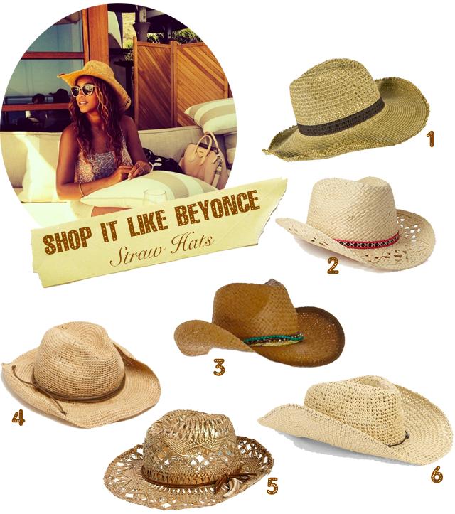 Beyonce Straw Hat