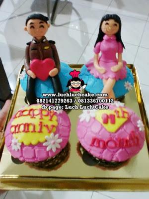 Cupcake Anniversary Tema Polisi