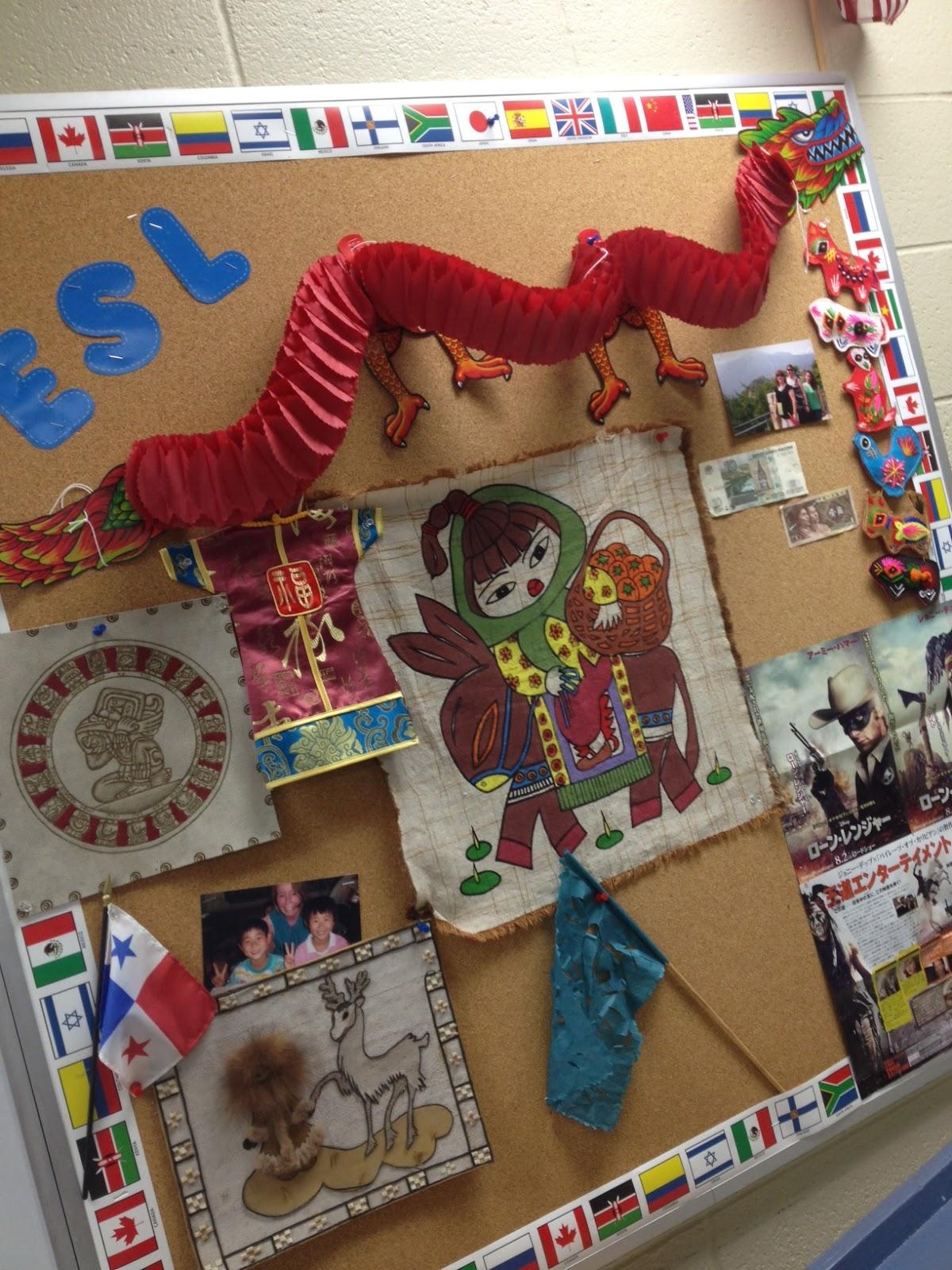 Carlex Spanish Classroom Decorations : Yo vi espanol bulletin board spanish classroom