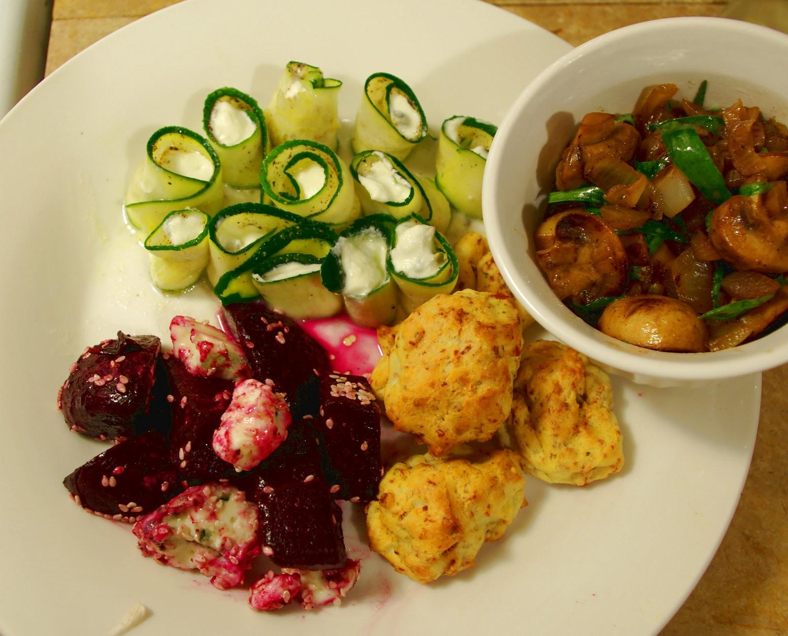 ... Roquefort) + Prosciutto, Sage & Parmesan Puffs + Marinated Mushrooms