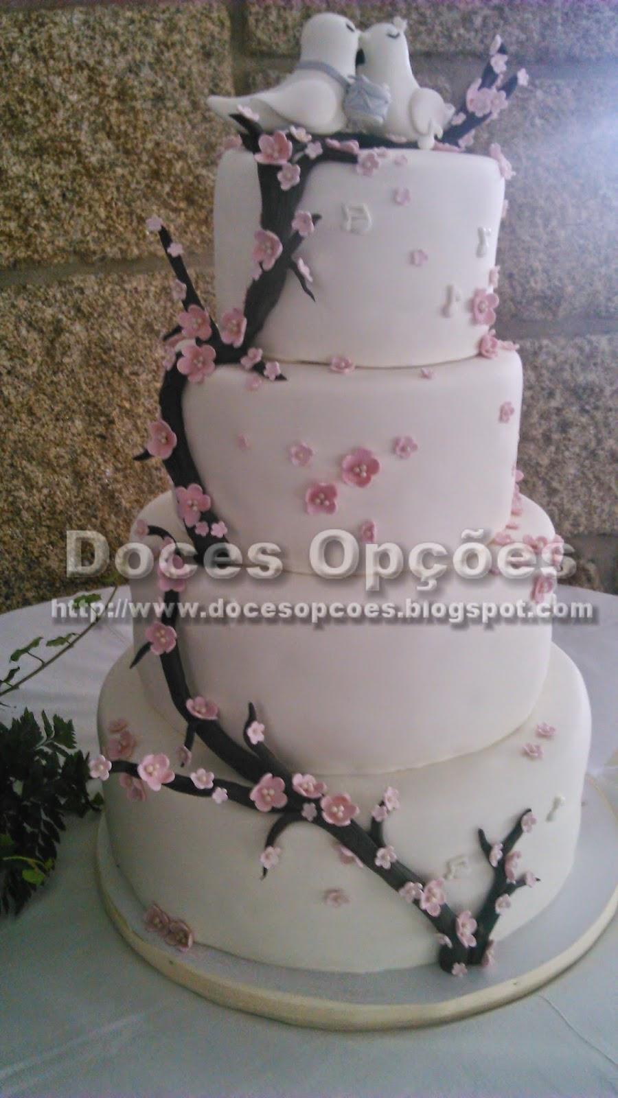 Bolo de casamento doces opções