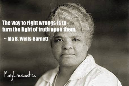 they say ida b wells Ida b wells emerged in the 1890s as the leading voice against the lynching of african americans following the violent lynching of three of her friends barrett was with him and when mcdowell said he knew nothing as to the whereabouts of the man for whom they were searching, barrett, not the officer, then accused.