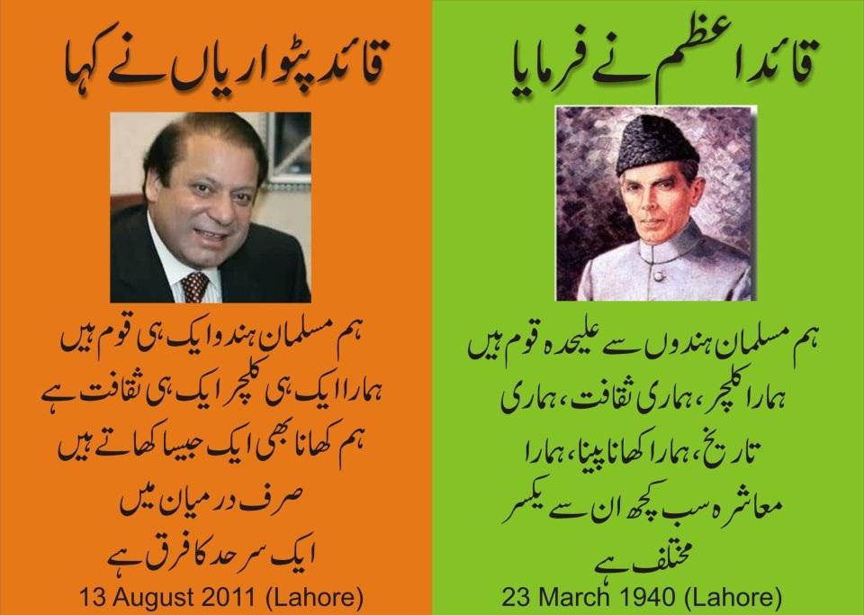 Allama Nawaz Sharif Vs Quaid Azam ~ Asif Zardari Bhutto