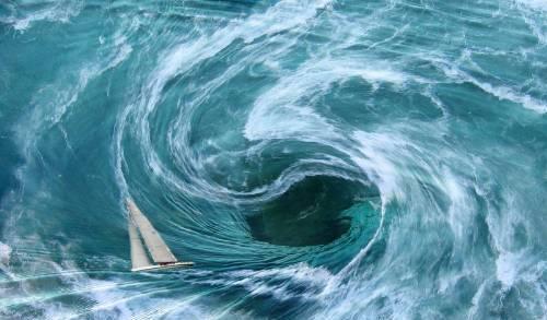 Real Bermuda Triangle Whirlpool