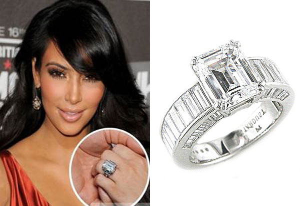 3 U2013 There Is A Large Break In Price Between The First Two And Kim  Kardashianu0027s Engagement Ring. Amazingly Beautiful, This Emerald Cut Ring  Cost $2 Million ...