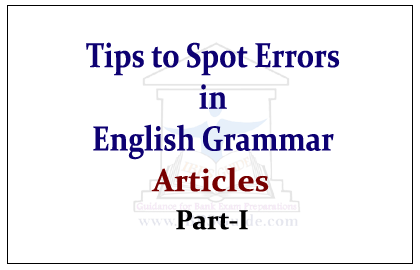 articles for english exams