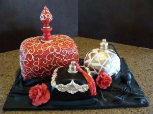 Perfume bottle cupcakes