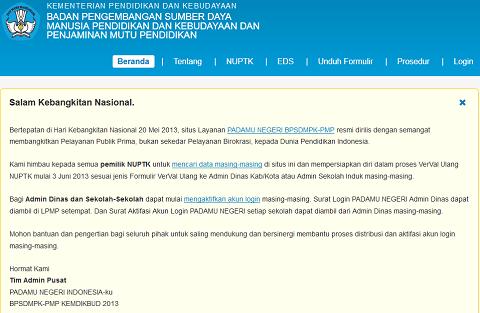 Verifikasi Validasi (VerVal) Ulang NUPTK Mulai 3 Juni 2013