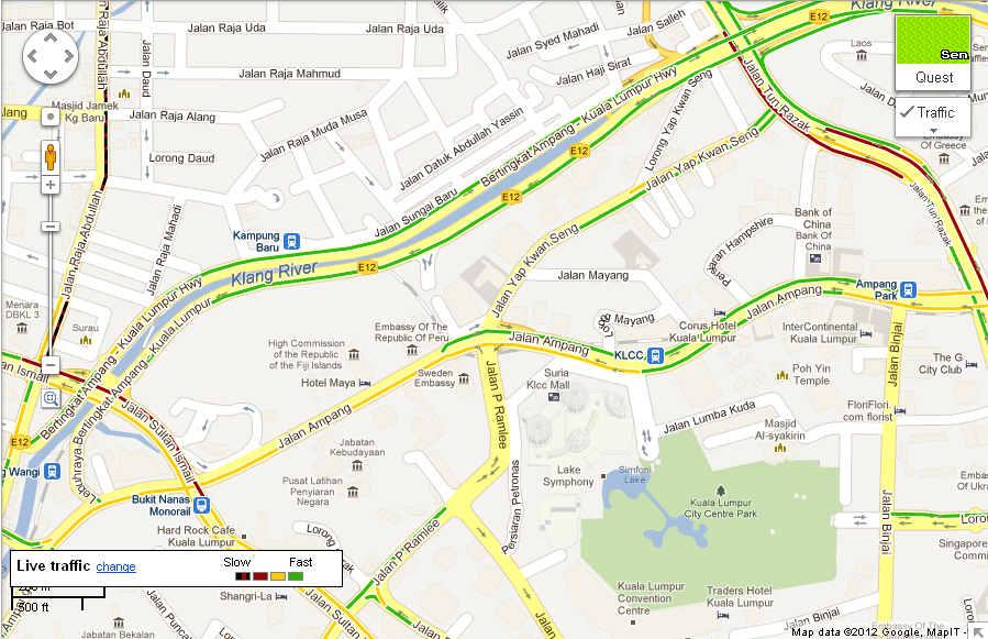Starcam goggle maps live traffic available in malaysia now the launch of google maps in malaysia will definitely be useful and a welcome feature we can now check traffic details on our computers prior to making a sciox Image collections