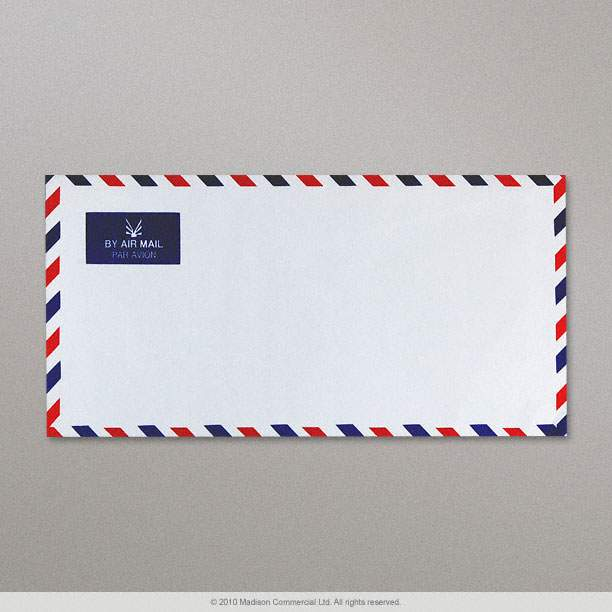 Airmail Envelope Border