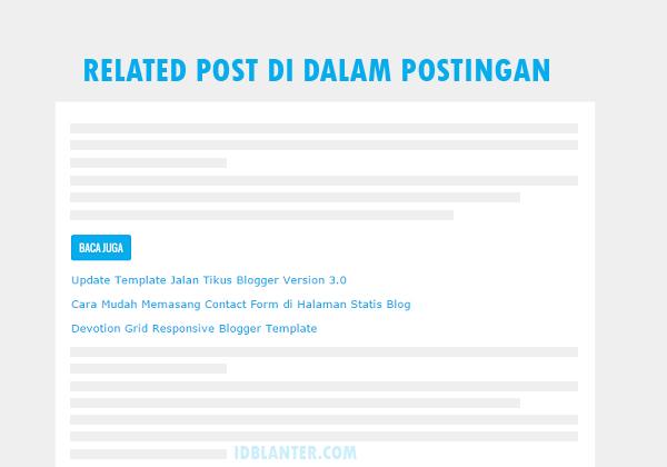 Cara Memasang Related Post di Dalam Postingan Blog