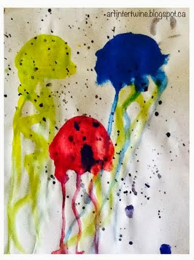 Primary Color Art Activity For Kids - Jellyfish