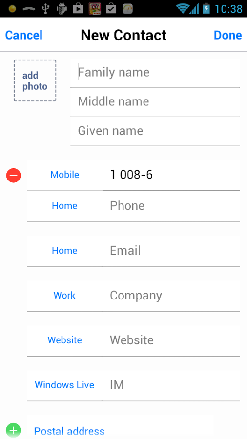iOS 7 Dialer & iOS 7 Contact
