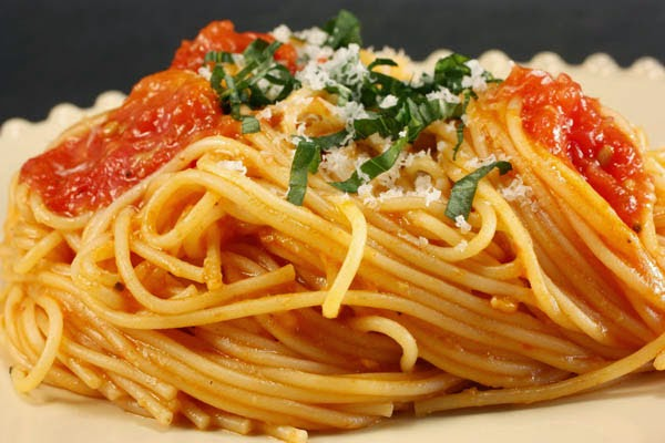 Spaghetti with the Preserved Fish Roe, Mediterranean Diet, Monastic Recipes of Holy Mount Athos,