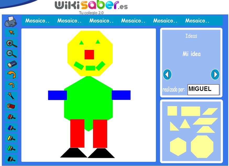 Juego para hacer mosaicos usando polígonos (Wikisaber)