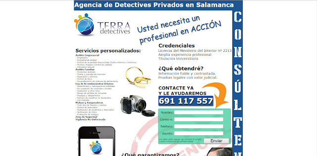 detectives privados Salamanca landing page