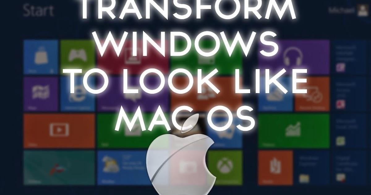 how to make windows 10 look like mac os x