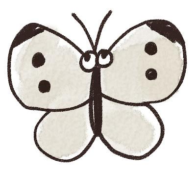 モンシロチョウのイラスト(虫)
