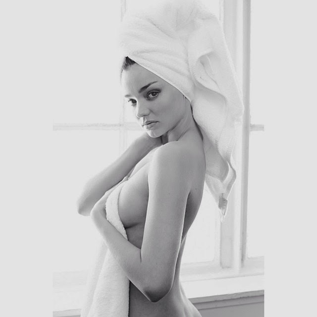 Miranda Kerr después de una ducha