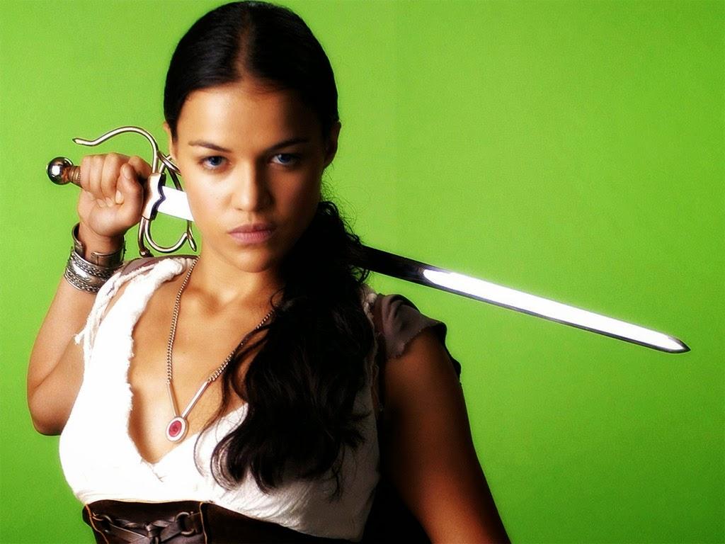 Michelle Rodriguez sword