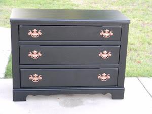 Black Vintage Dresser  *SOLD*