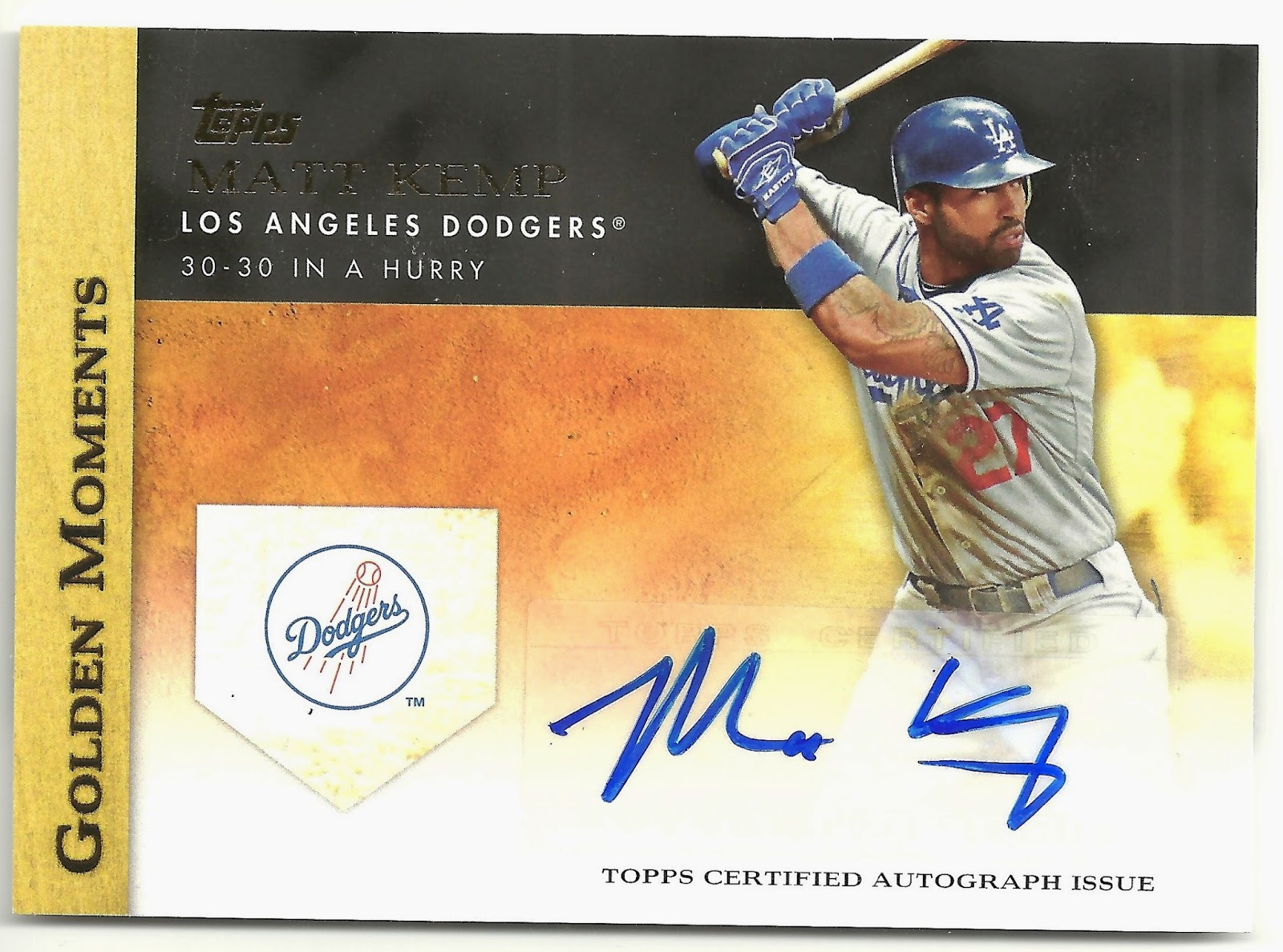 Matt Kemp Autographed Card The Matt Kemp Autographed
