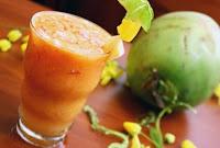 Coquetel de Frutas e Água de Coco (vegana)